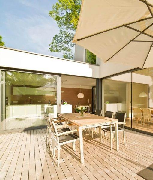 teak terrassendielen 120mm breite kaufen. Black Bedroom Furniture Sets. Home Design Ideas