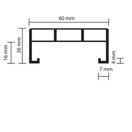 Profil Alu-Unterkonstruktion flach