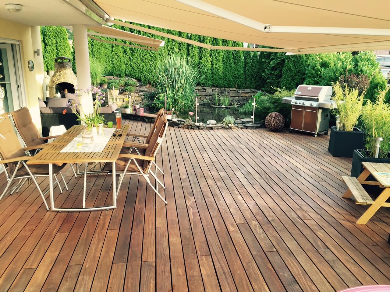Teakholz Gartenmobel Outlet : Erfahrungen mit CumaruTerrassendielen von Betterwood
