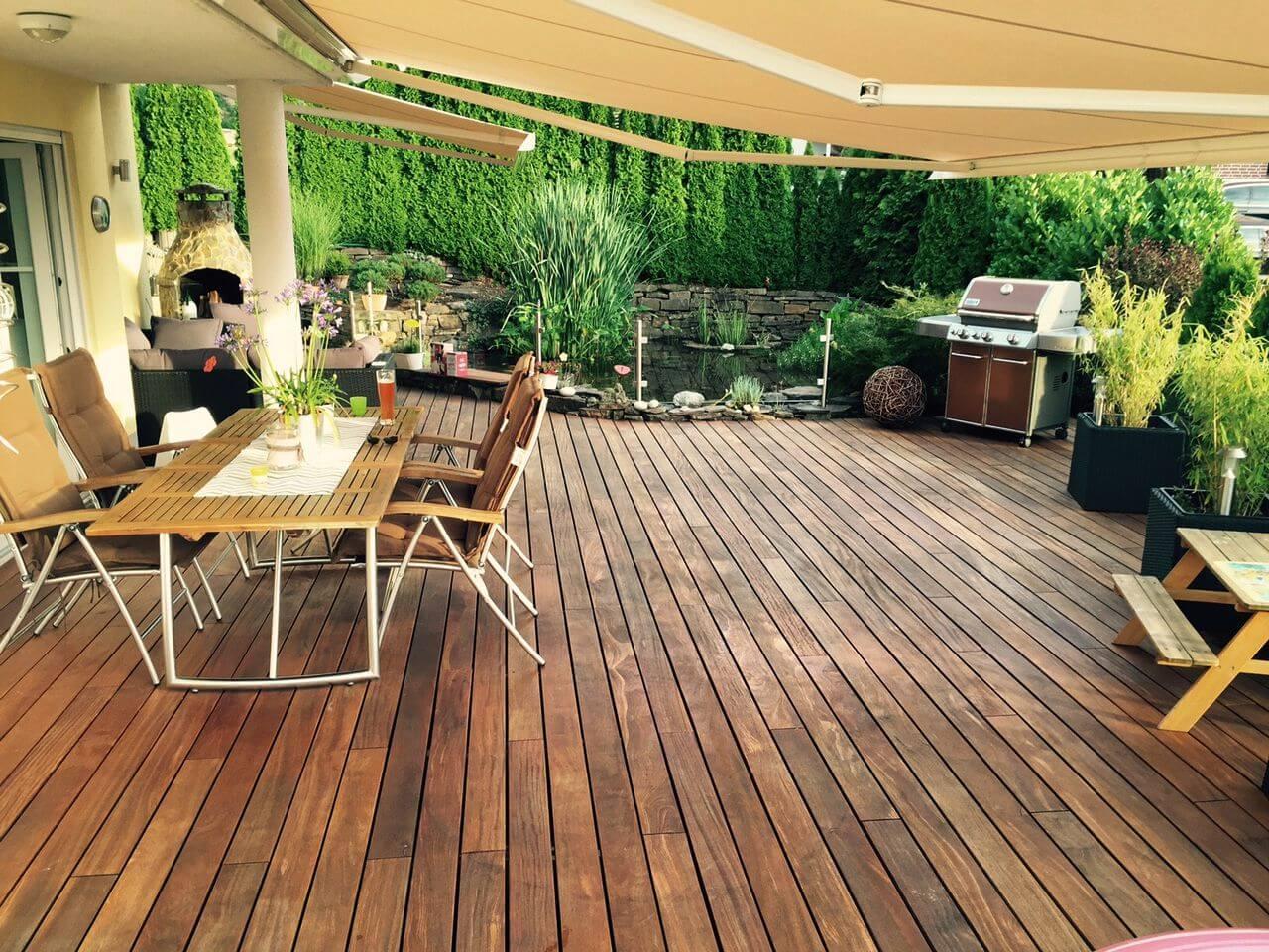 was ist das beste terrassenholz. Black Bedroom Furniture Sets. Home Design Ideas