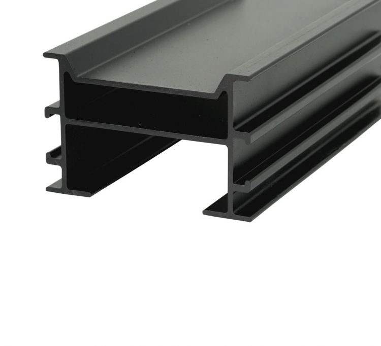 Aluminium Unterkonstruktion schwarz