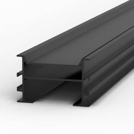 Aluminium-Unterkonstruktion schwarz