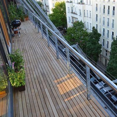 Teakholz terrasse  Teak-Terrassendielen glatt geschliffen und handsortiert, FSC 100%