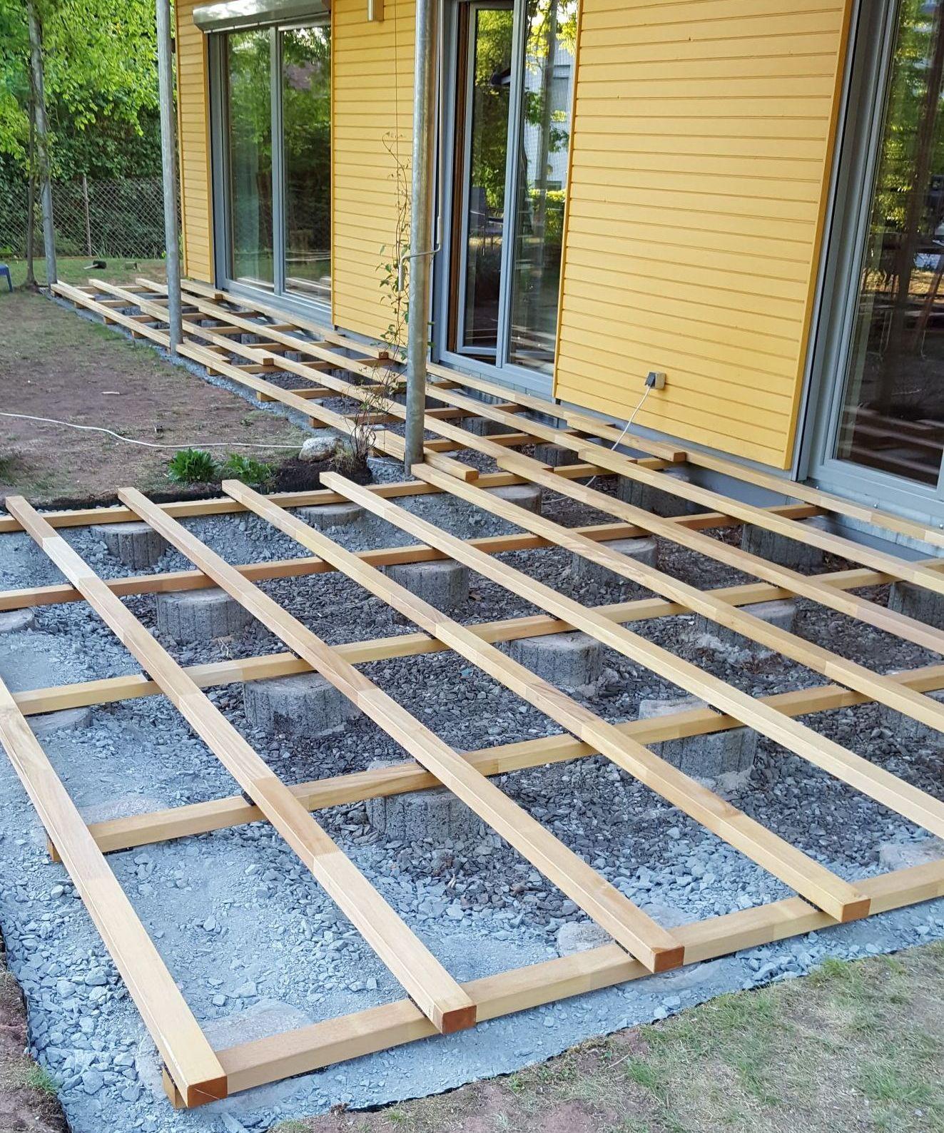 Garapa Unterkonstruktion für Terrassendielen   20x20mm   FSC 20