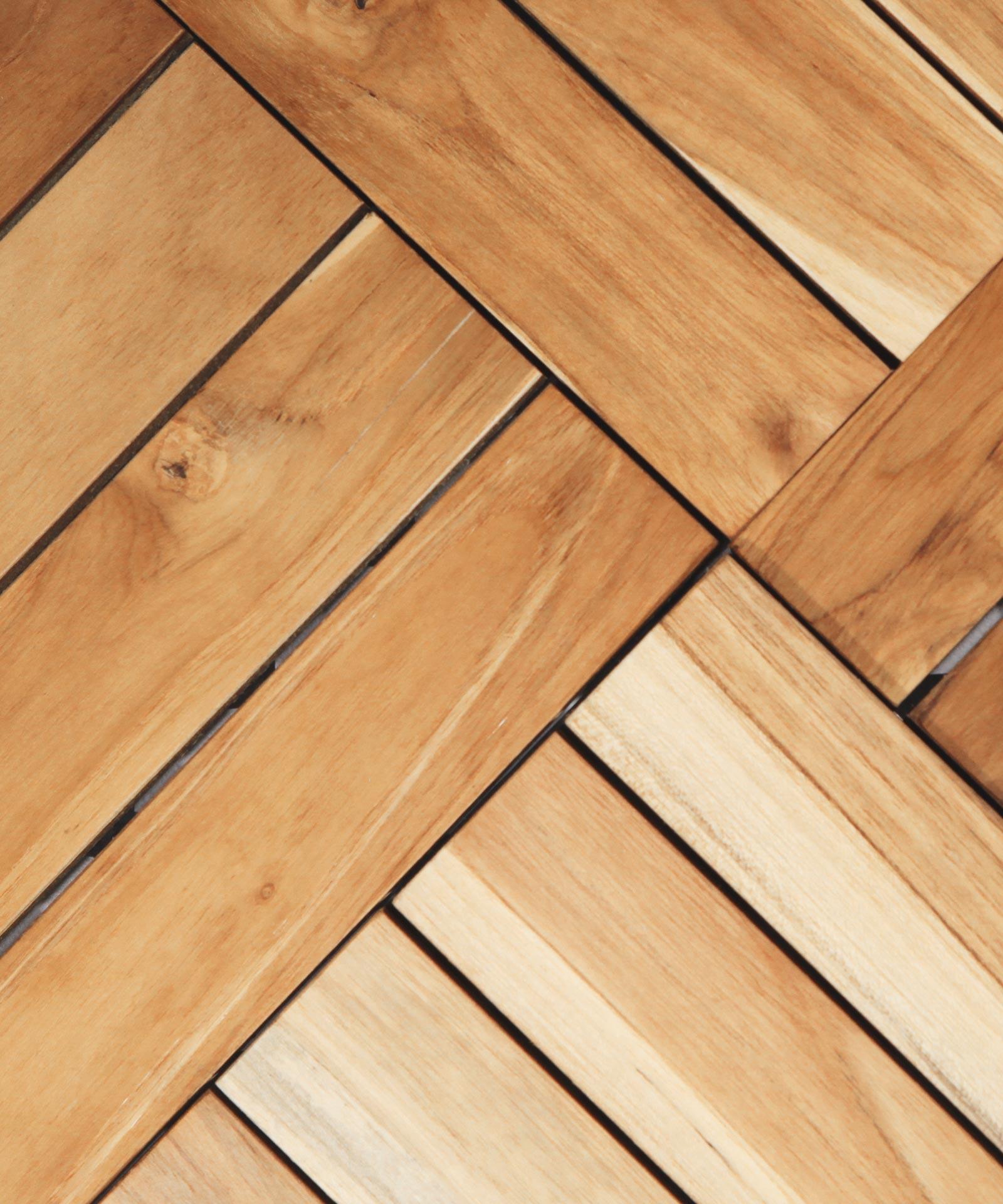 Teak Holzfliesen mit Klick System kaufen 30x30cm FSC