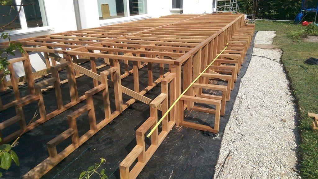 Konterlattung Holzterrasse
